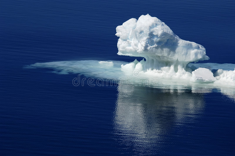 纯南极的冰 免版税库存照片