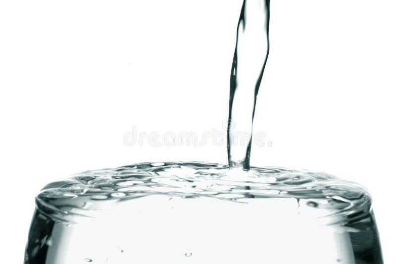 纯喷射水 免版税库存照片