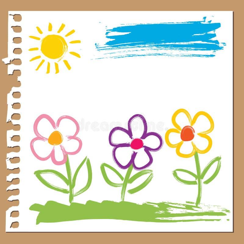 Download 纯稚花绘 向量例证. 插画 包括有 孩子, 绘画, 快乐, 五颜六色, 油漆刷, 简单, 油漆, 逗人喜爱 - 22358065