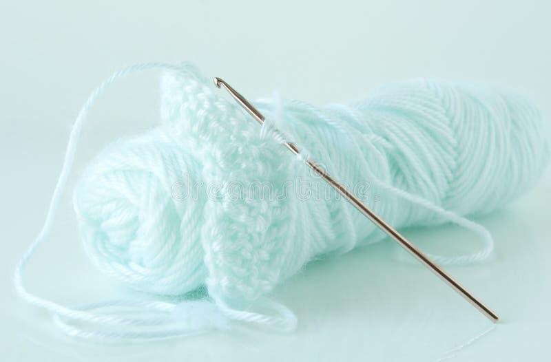 纱线和钩针编织 图库摄影
