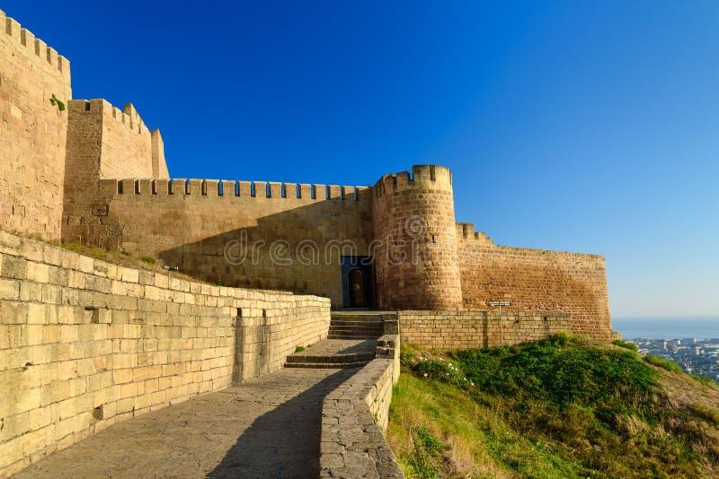 纳伦Kala堡垒在Derbent c 库存图片