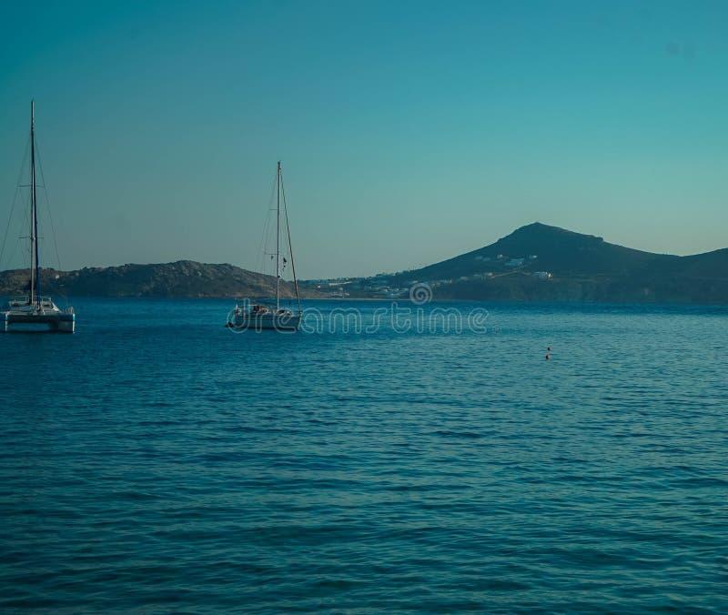 纳克索斯主要港  库存图片