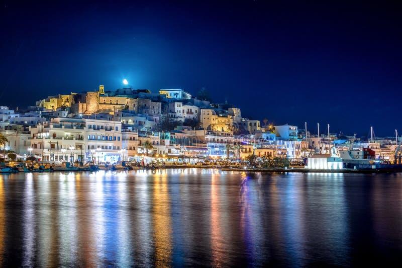 纳克索斯岛,基克拉泽斯,希腊Chora  库存图片
