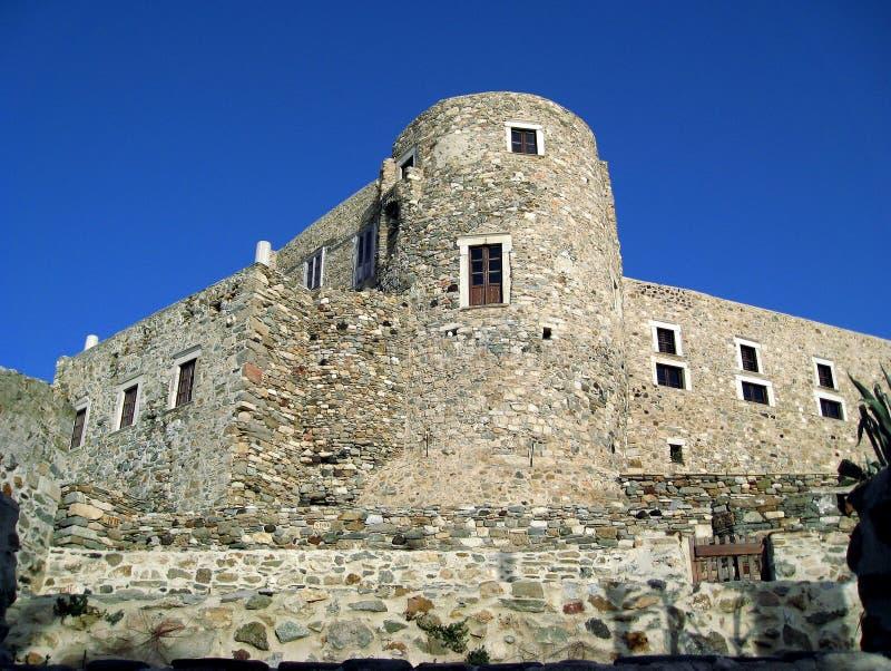 纳克索斯城堡 免版税库存照片