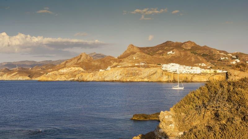 纳克索斯岛在希腊基克拉泽斯 图库摄影