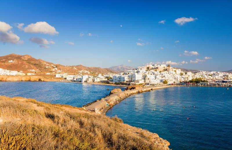 纳克索斯岛在希腊,基克拉泽斯 免版税图库摄影