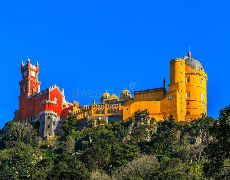 贝纳全国宫殿,辛特拉,里斯本,葡萄牙 免版税库存图片