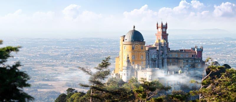 贝纳宫殿在辛特拉,葡萄牙 库存照片