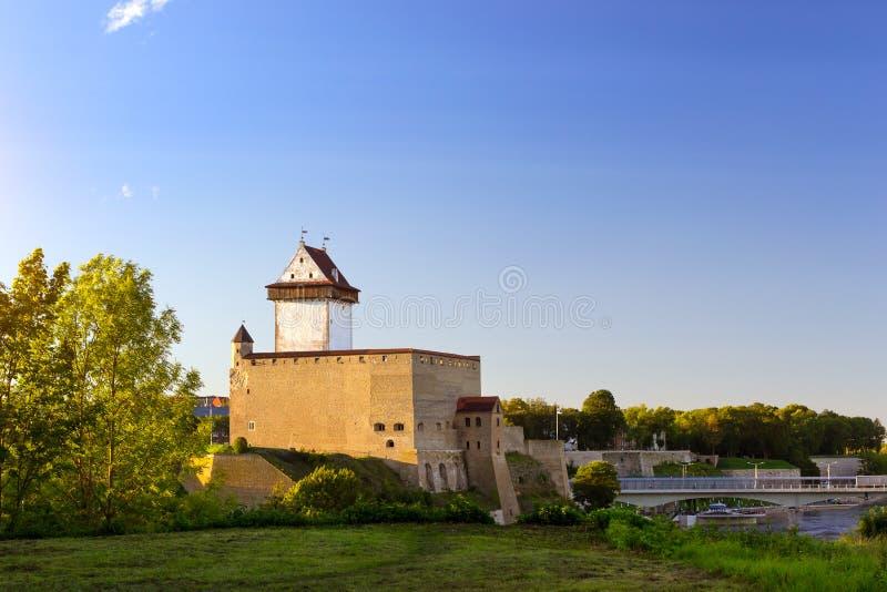 纳尔瓦埃尔曼城堡,爱沙尼亚 图库摄影