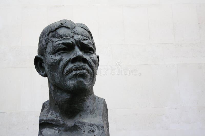 纳尔逊・曼德拉雕塑 图库摄影