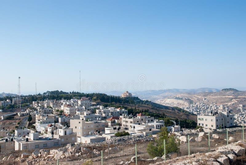 纳布卢斯市Shechem鸟瞰图从Gerizim登上的 库存图片