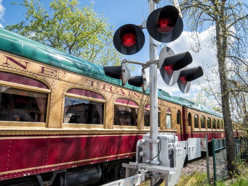 纳帕谷酒火车 库存图片