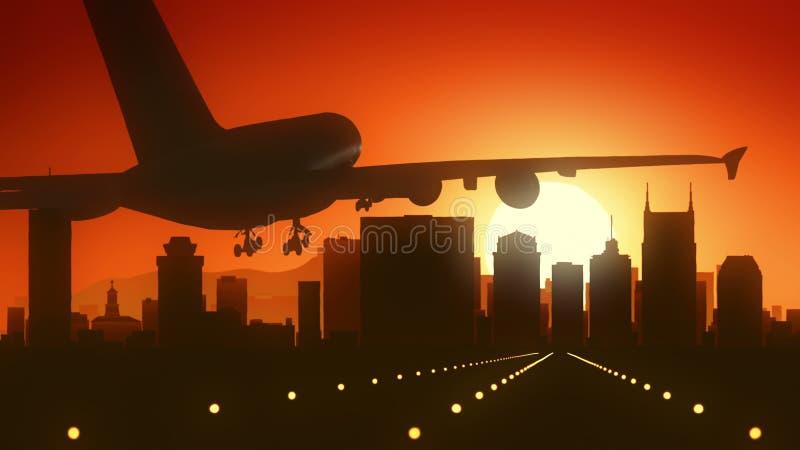 纳稀威田纳西美国美国地平线日出着陆 库存照片