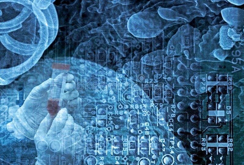 纳米技术科学 免版税库存照片