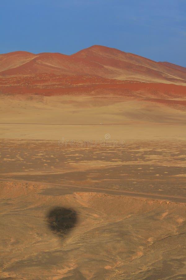 纳米比亚沙漠鸟瞰图 免版税库存照片