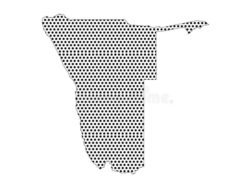纳米比亚的光点图形地图 向量例证