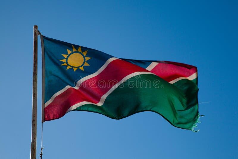 纳米比亚的旗子 库存照片