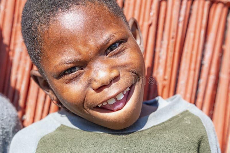 纳米比亚,非洲 伦杜、卡万戈 免版税库存图片