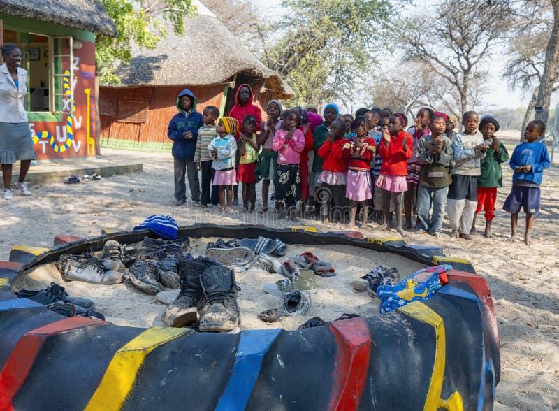 纳米比亚,非洲 伦杜、卡万戈 库存照片