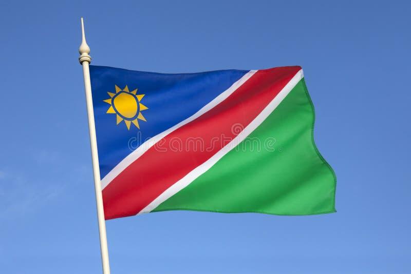 纳米比亚-非洲的旗子 库存照片