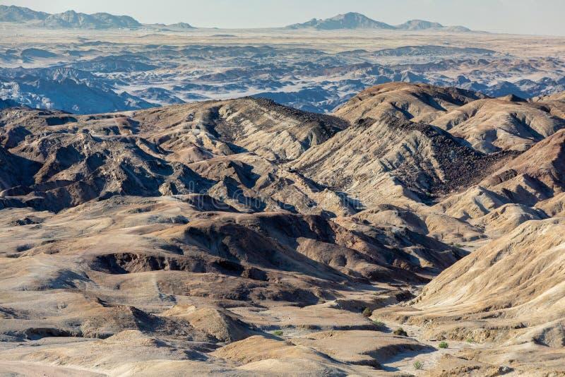 纳米比亚moonscape斯瓦科普蒙德,纳米比亚非洲 免版税图库摄影