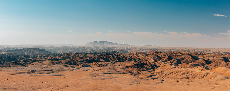 纳米比亚moonscape斯瓦科普蒙德,纳米比亚非洲 免版税库存照片