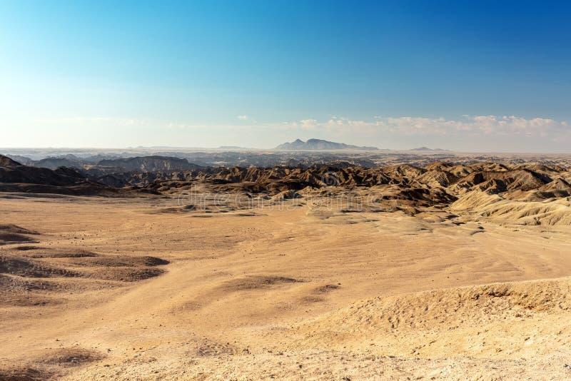 纳米比亚moonscape,斯瓦科普蒙德地区,纳米比亚 免版税库存照片