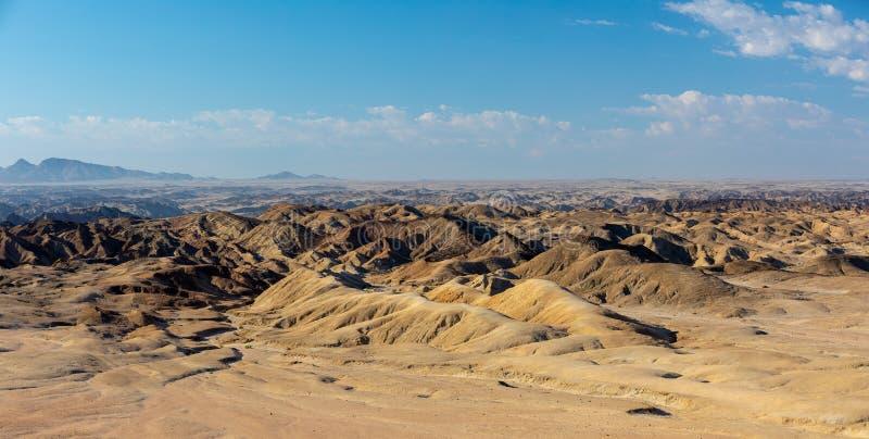 纳米比亚moonscape,斯瓦科普蒙德地区,纳米比亚 免版税图库摄影