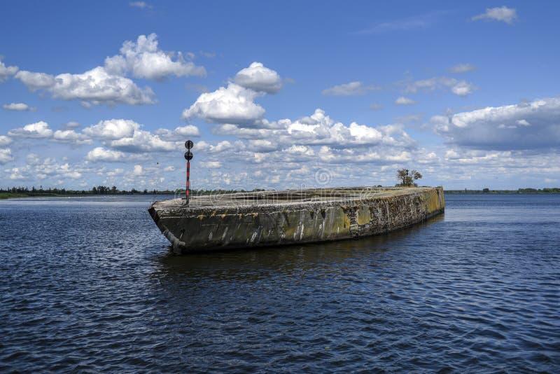纳粹使用的一艘具体船在第二次世界大战期间 L 库存照片