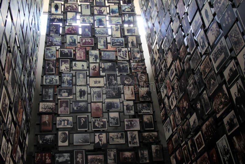 纳粹王朝的无辜的受害者浩大的展览在WWII期间的,美国浩劫纪念博物馆,华盛顿特区, 2016年 免版税库存照片
