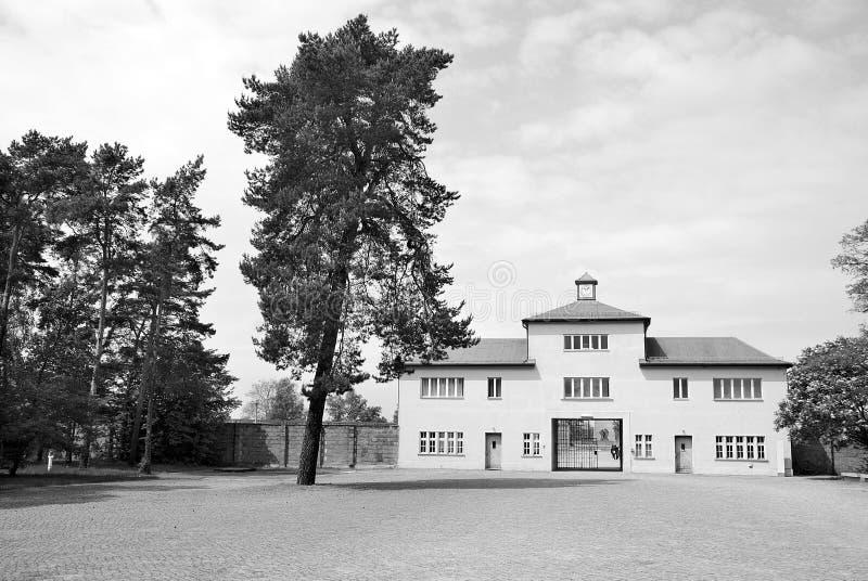 纳粹集中营入口  库存图片
