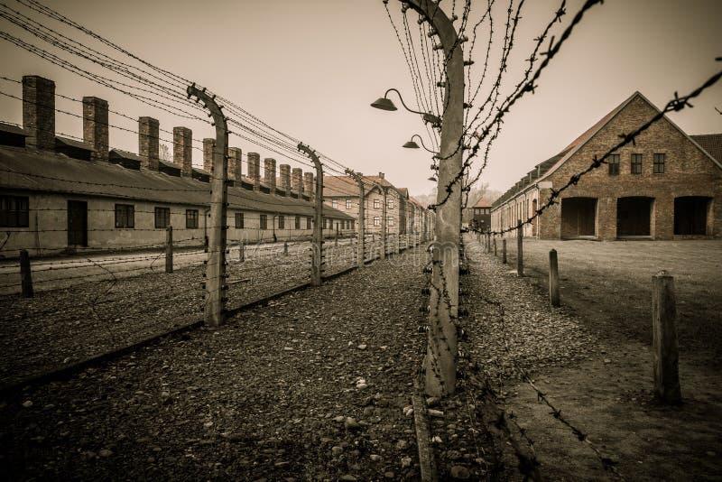 纳粹集中营奥斯威辛我,波兰 库存图片