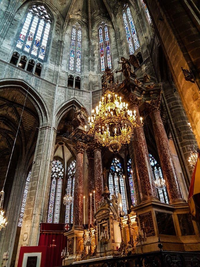 纳莫纳大教堂的主要法坛  库存照片