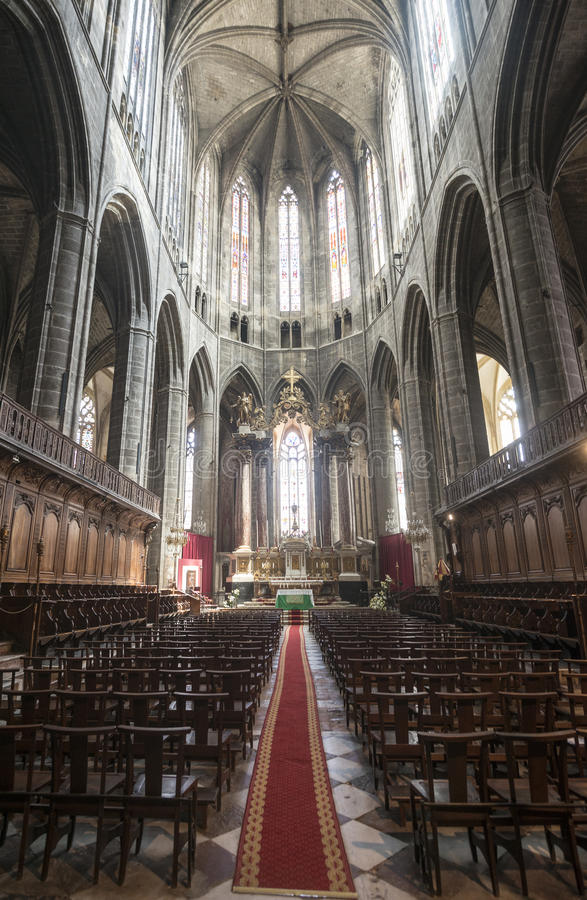 纳莫纳,大教堂内部 免版税图库摄影