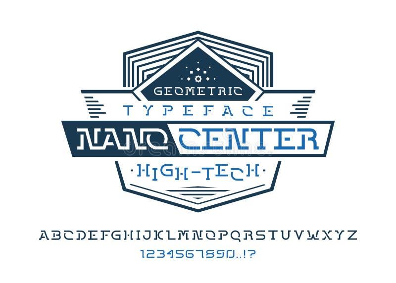 纳诺中心字体 库存例证