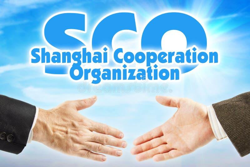 纳雷索夫,上海合作组织 亚洲的某些国家的经济联盟 库存照片