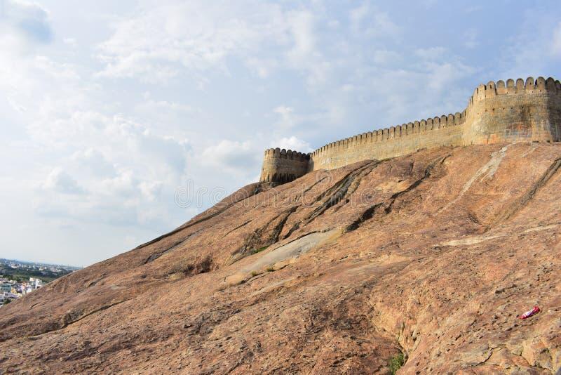 纳马卡尔,Tamilnadu -印度- 2018年10月17日:纳马卡尔堡垒 图库摄影