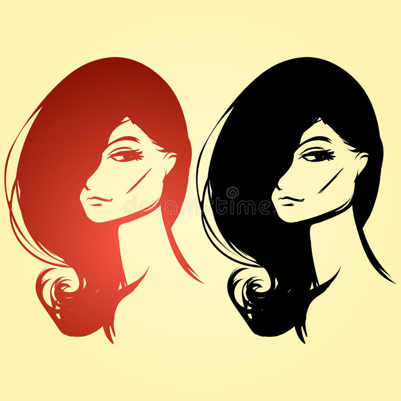 纵向二妇女 免版税库存图片