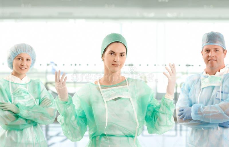 纵向外科医生小组 免版税库存照片
