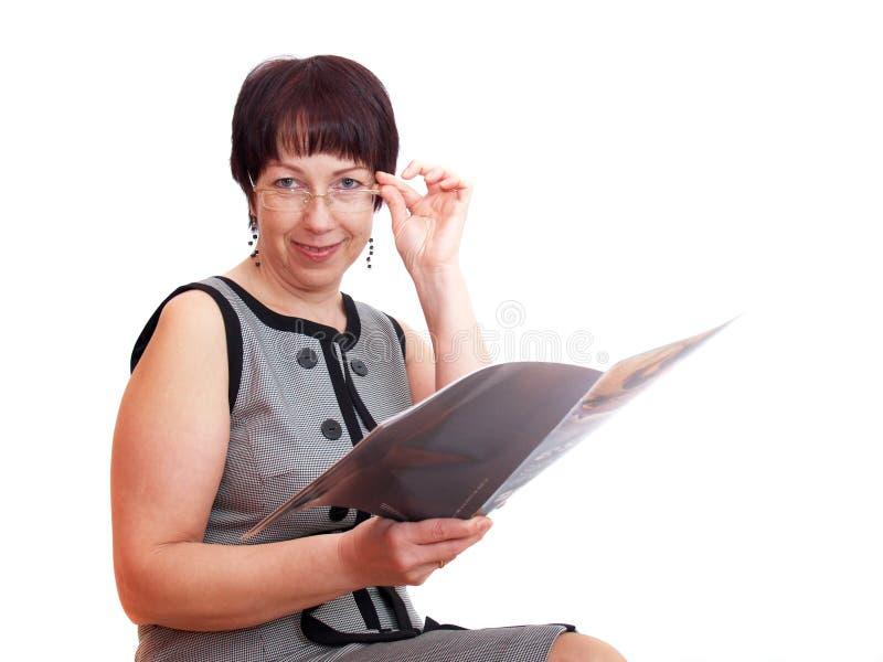 纵向妇女 免版税库存图片