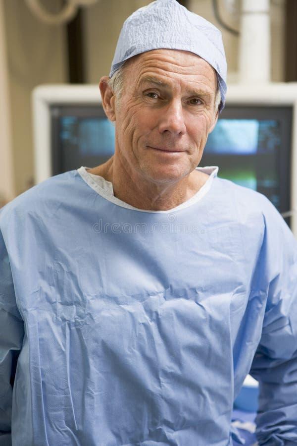 纵向洗刷外科医生外科 免版税库存图片