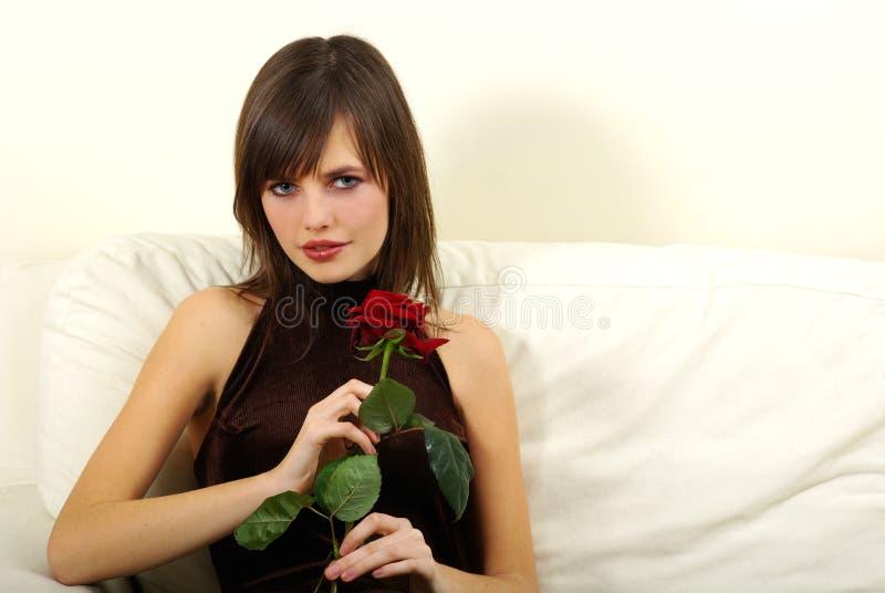 纵向浪漫妇女 库存照片