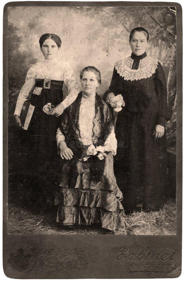 纵向葡萄酒妇女 免版税库存图片