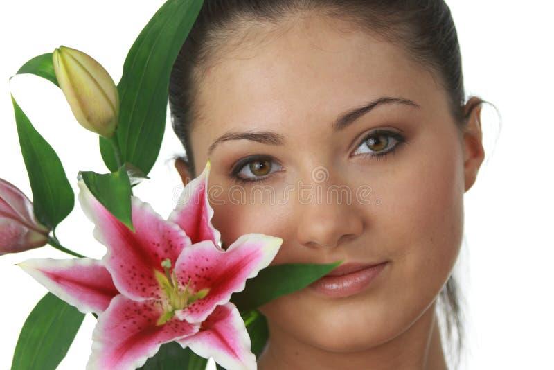 纵向lilly妇女年轻人 库存图片