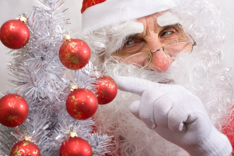 纵向s圣诞老人 免版税图库摄影