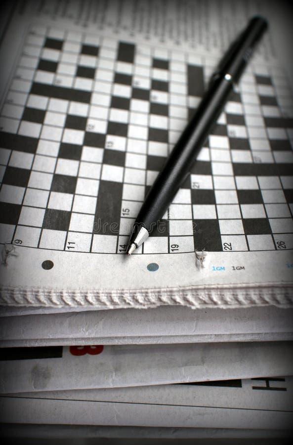 纵横填字游戏 免版税库存照片