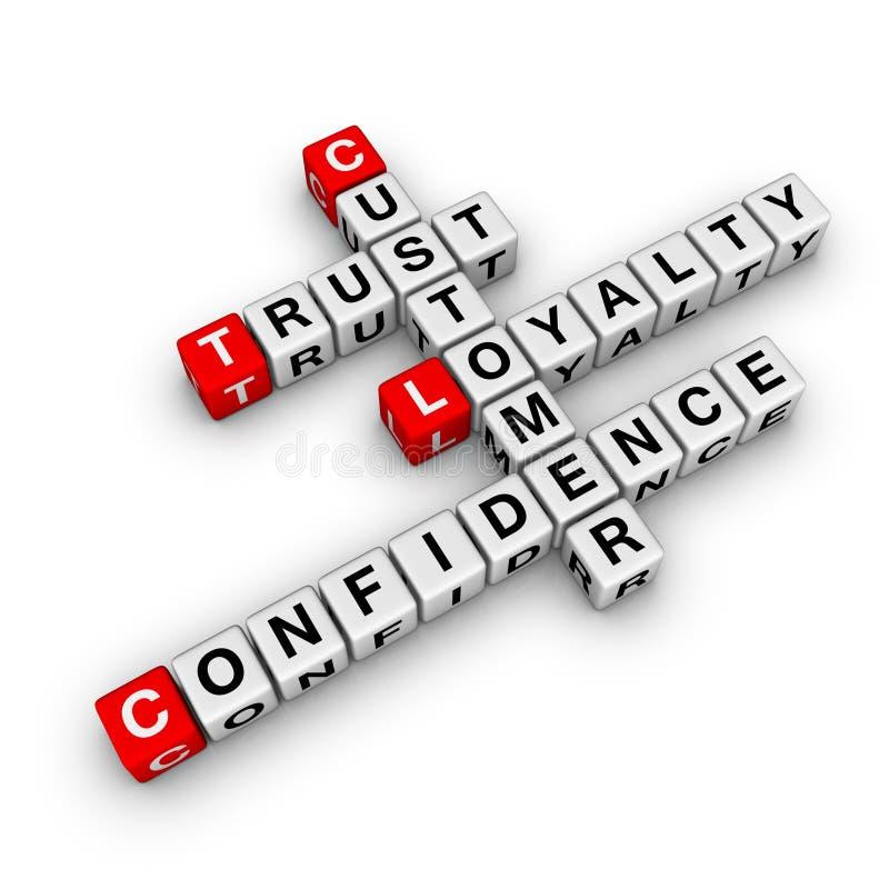 纵横填字谜客户忠诚度 向量例证