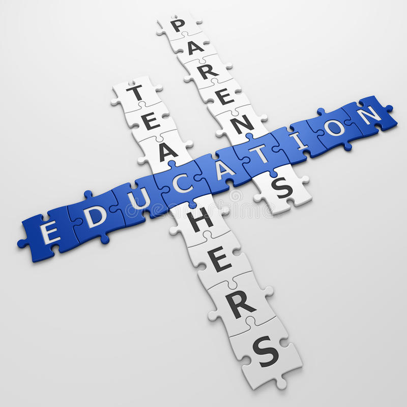 纵横填字谜教育 向量例证
