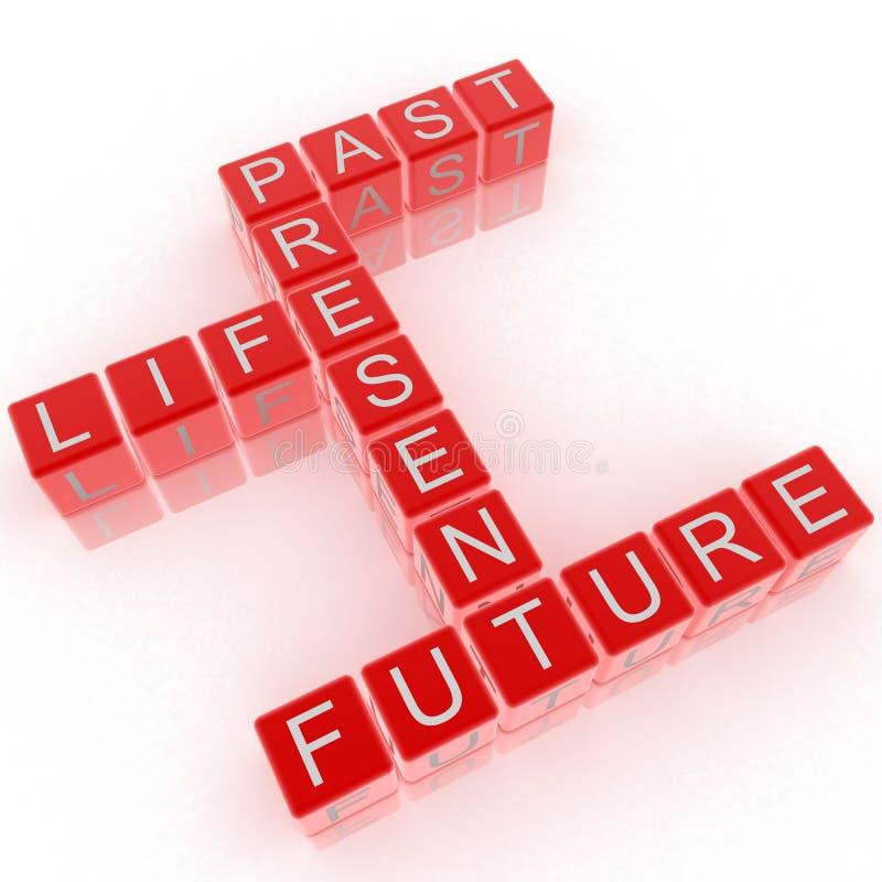 纵横填字谜未来的生活过去存在 向量例证