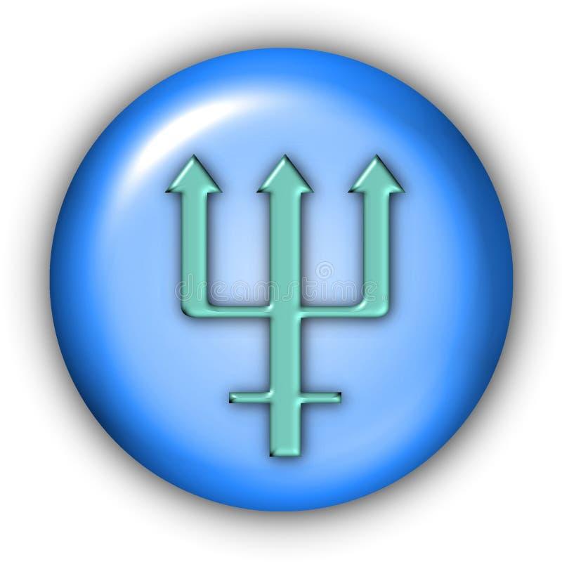 纵的沟纹海王星 向量例证